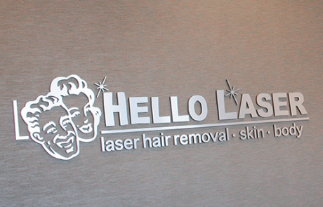 Hello Laser Indoor Sign