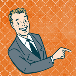 Guy Pointing Clipart