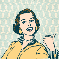 Woman Pointing Clipart